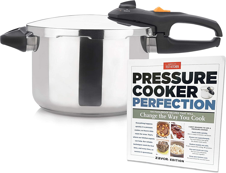 Zavor DUO 6.3 Quart Pressure Cooker with America's Test Kitchen Pressure Cooker Perfection Cookbook