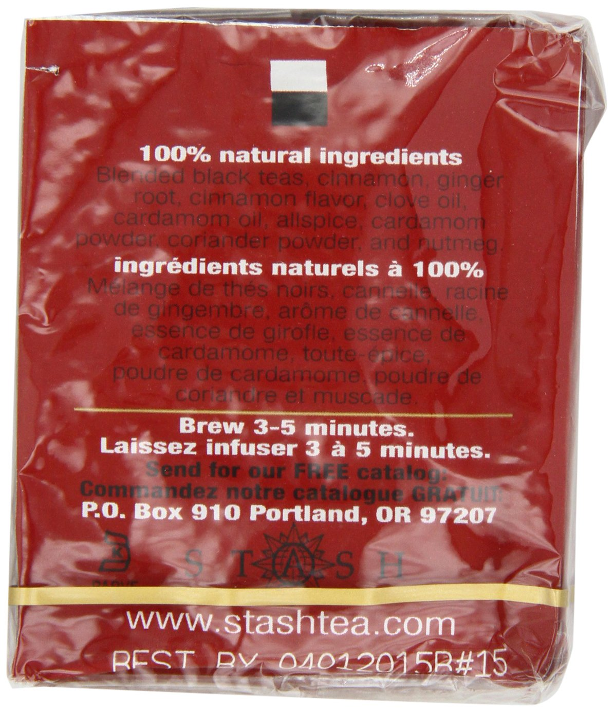 Stash Tea Double Spice Chai Black Tea, 10 Count Tea Bags in Foil (Pack of 12), (packaging may vary) by Stash Tea (Image #6)