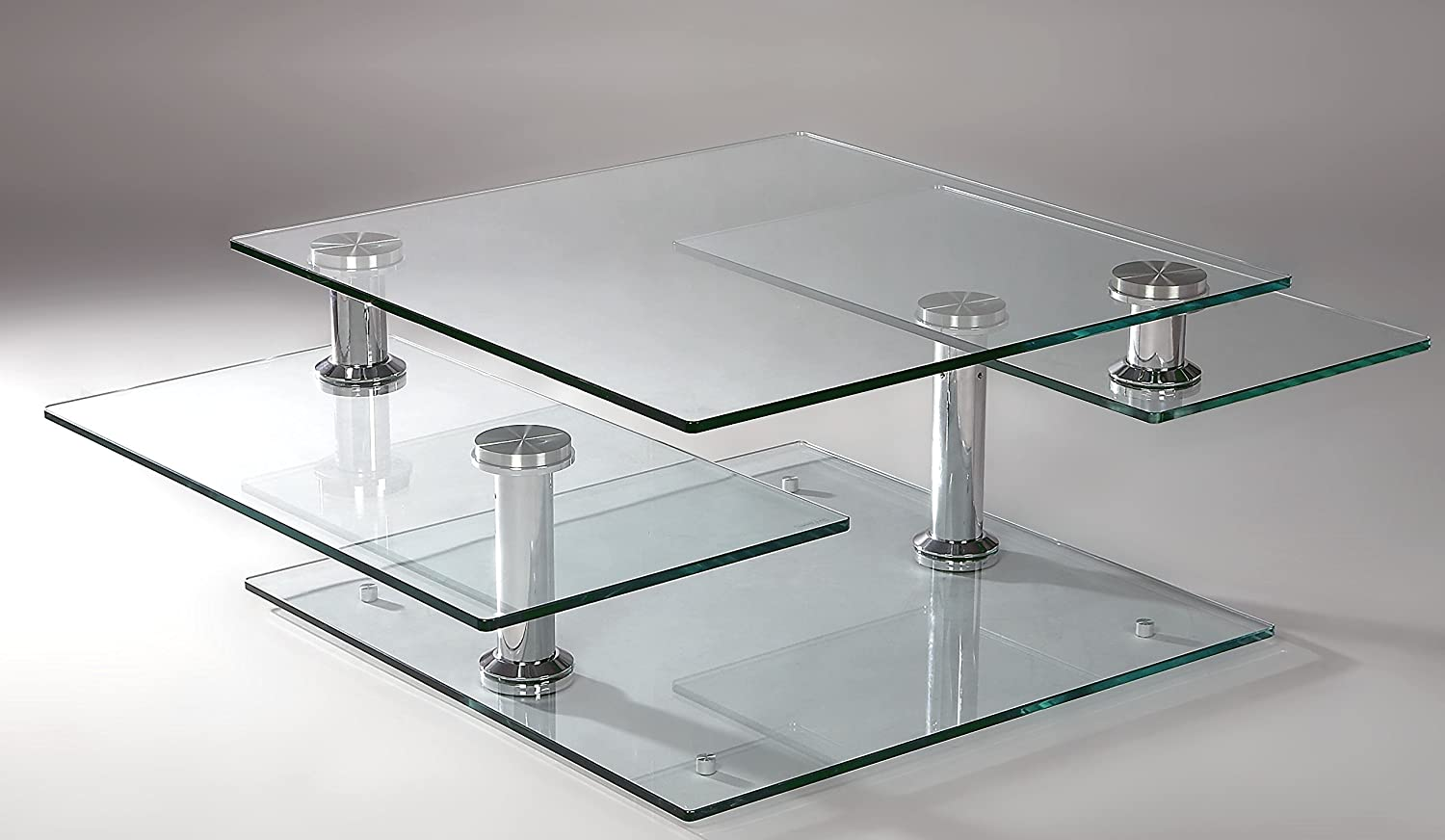 Amazon milan lillyana ct lillyana clearchrome square glass amazon milan lillyana ct lillyana clearchrome square glass motion cocktail table kitchen dining geotapseo Images