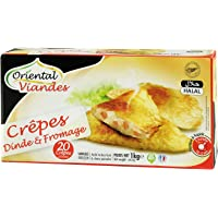 Crêpes surgelées dinde et fromage Halal - 20 x 50 g