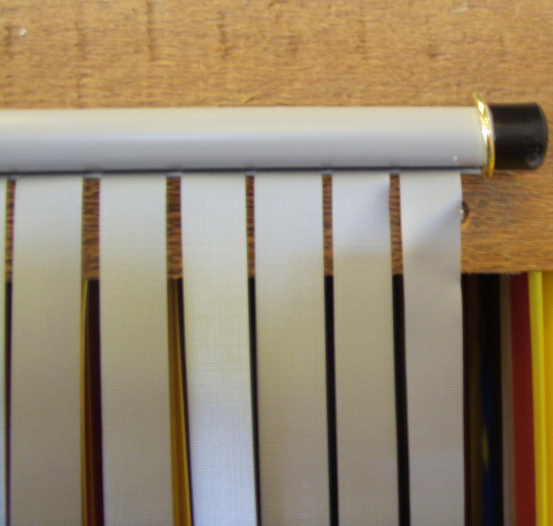 complet avec vis-/à crochets pour cadres en bois Rideau de porte type lamelle r/ésistants aux bestioles et aux mouches-TOUT BLANC