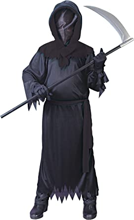 Amazon Com Fun World Big Boys Black Faceless Ghost Costume Large 12 14 Toys Games