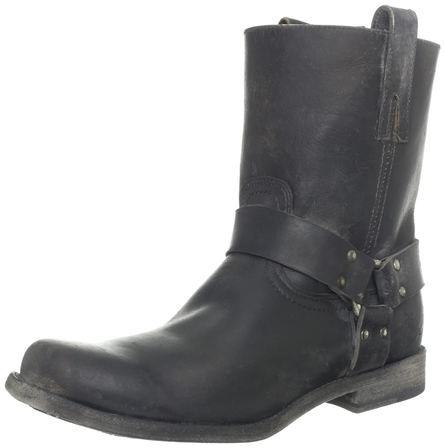 FRYE Smith Harness, Stivali Uomo Nero Noir (Blk) 44.5