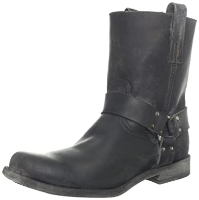 Amazon.com: FRYE Men's Smith Harness Boot Black 9 M US: Shoes