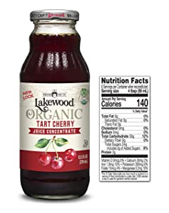 Lakewood Organic Tart Cherry Juice Concentrate (12.5 oz, 6 pack)
