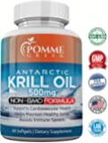 Krill Oil by Pomme Green Nutrition, 500 mg, Anti-Inflammatory, Toxin Free, Easily Absorbed, FDA, EPA, DHA, GMP Certified, Made in the USA, 60 Capsules