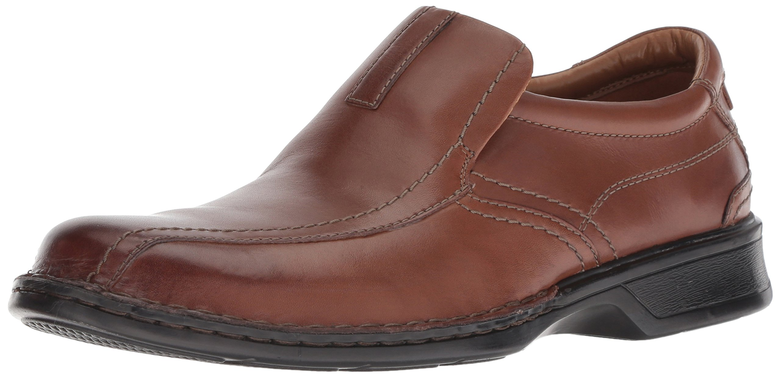 Clarks Men's Escalade Step Slip-on Loafer- Brown Leather 7.5 D(M) US by CLARKS