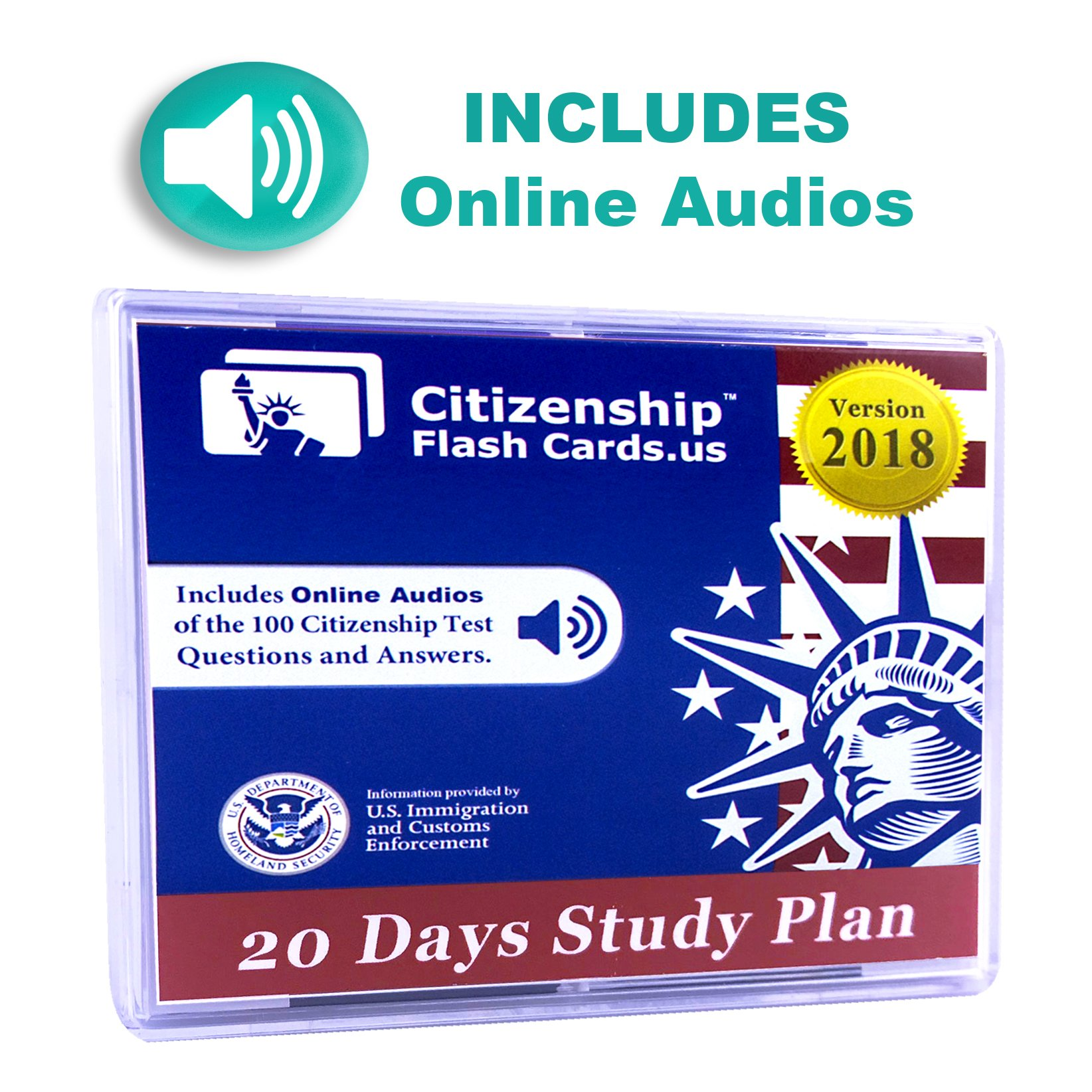 Learn all 100 Official USCIS Civics Questions and Answers in only 20 days.  USCIS Civics Flash Cards.: CitizenshipFlashCards.us: 9780983723349:  Amazon.com: ...
