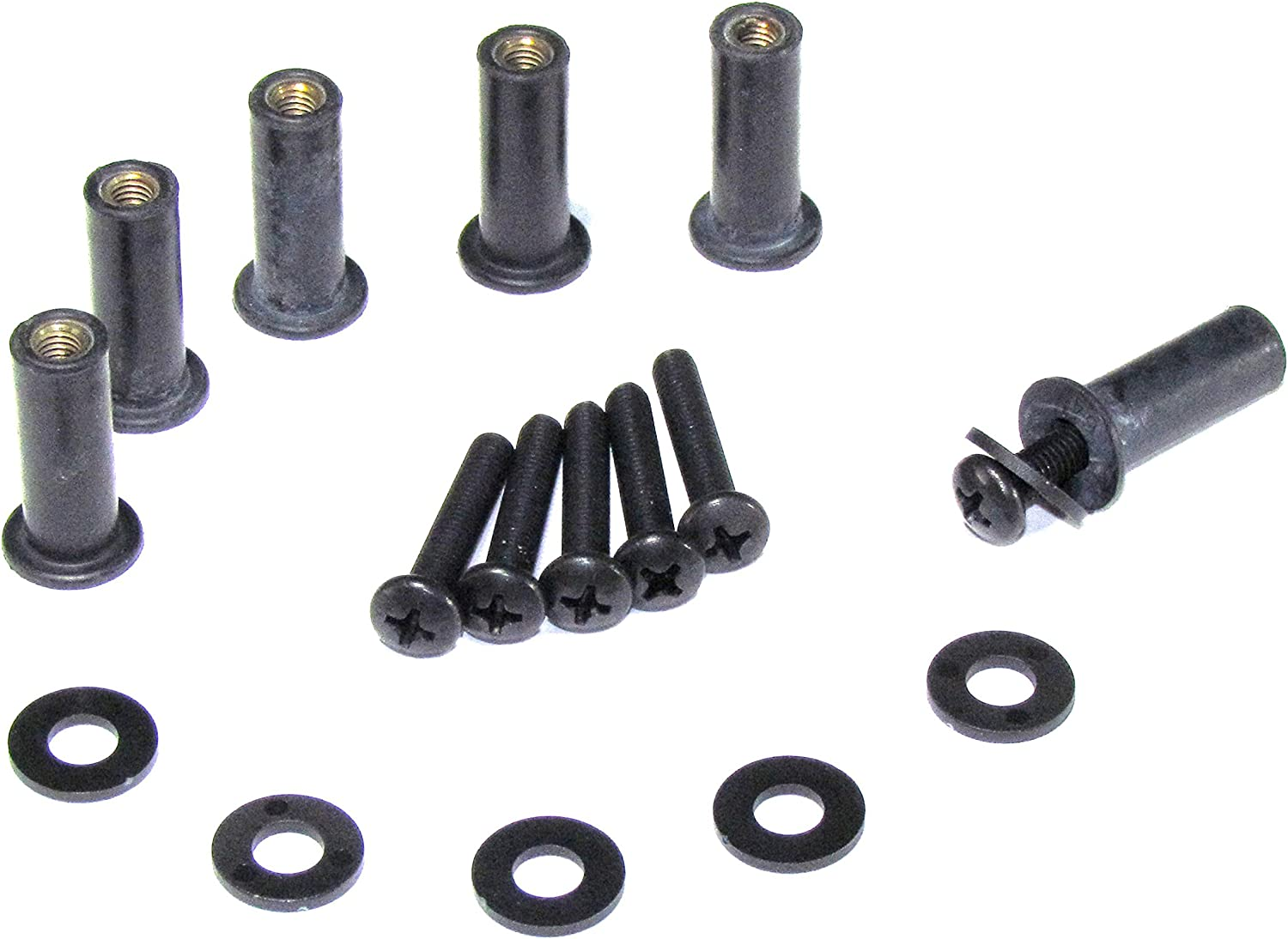 """Black 1 1//4/"""" Highway Bar Pegs by Show Chrome for V-Twin /& Metric NEW 21-334BK"""