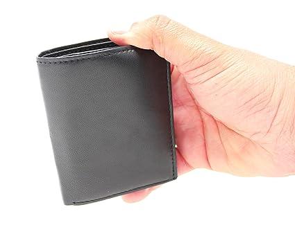 RAS WALLETS - Cartera para Hombre Hombre Negro Black (RFID Blocking) 8.5cm x 10.5cm: Amazon.es: Equipaje