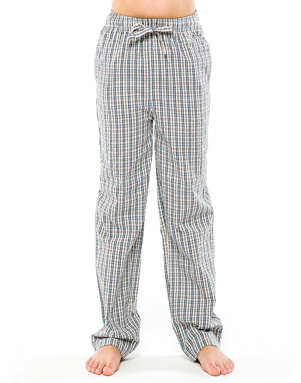 TINFL 6-12 Years Big Jungen Plaid Check Soft 100% Baumwolle Flannell Pyjama Hose BP_42-3