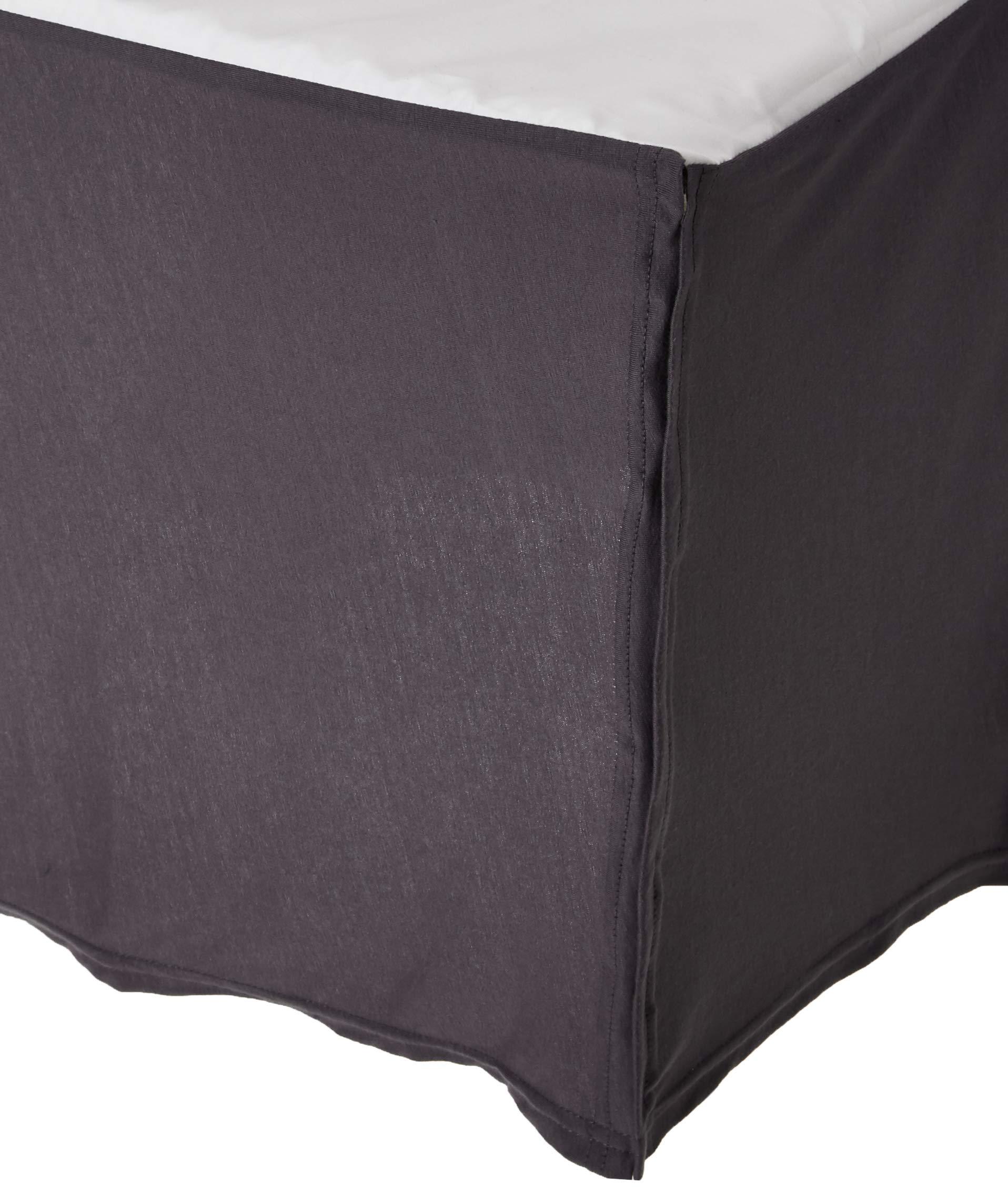 SheetWorld - MINI Crib Skirt (24 x 39) - Silver Grey Jersey Knit - Made In USA by SHEETWORLD.COM