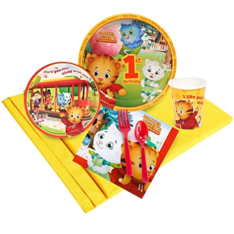 Image Unavailable Not Available For Color Daniel Tigers Neighborhood 1st Birthday 24 Guest Party Pack