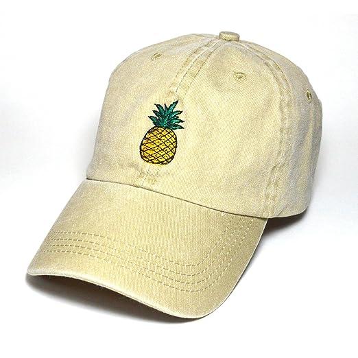 91d17dda298 Pineapple Hat Baseball Cap Polo Style Cotton Unconstructed Hats caps Multi  Colors (Beige)
