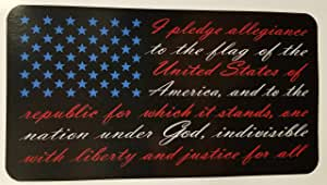 3 pack American Flag Pledge of Allegiance vinyl sticker decal truck USA