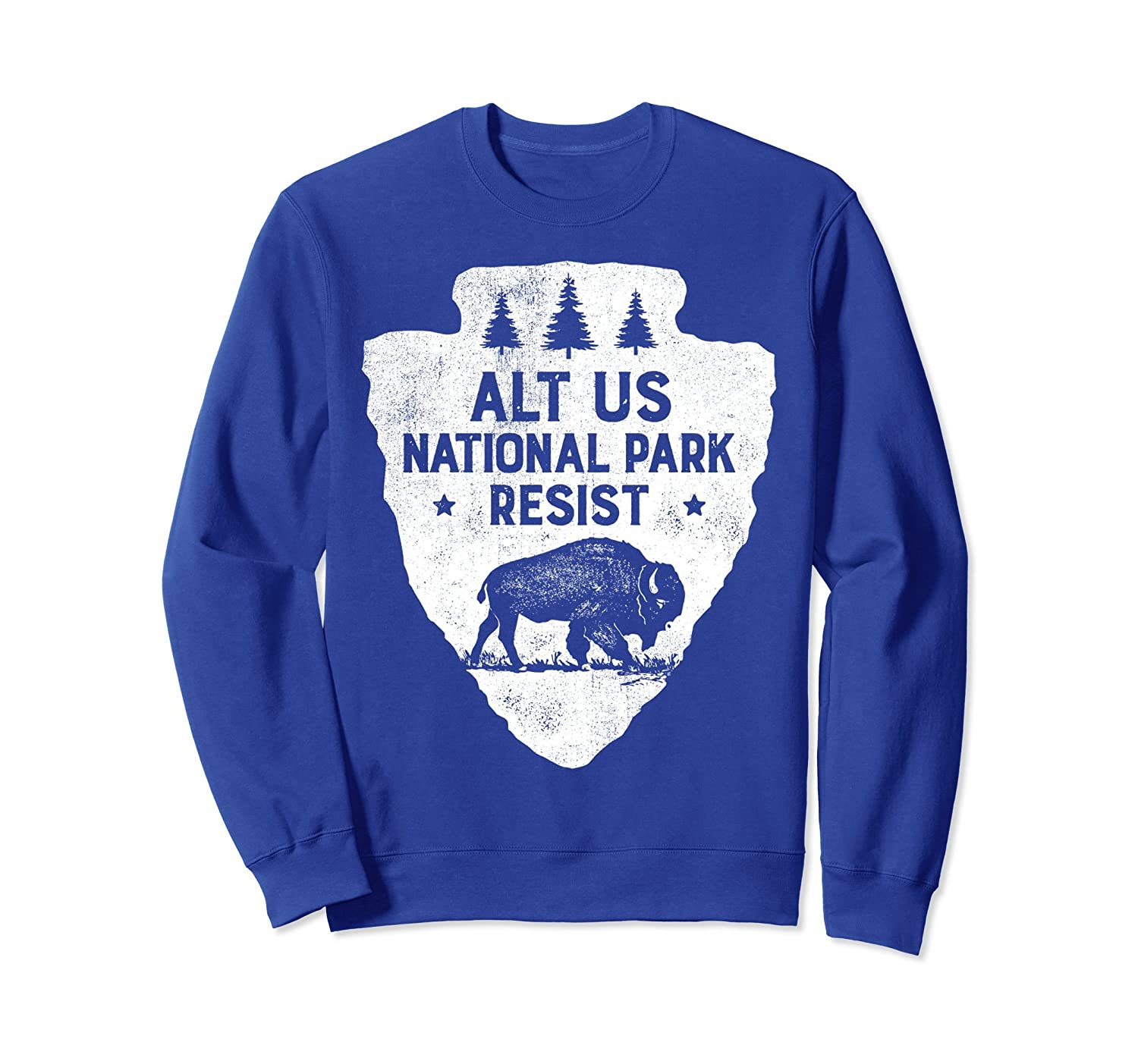 ALT US National Park Resist Service Sweatshirt Bison Vintage-ah my shirt one gift
