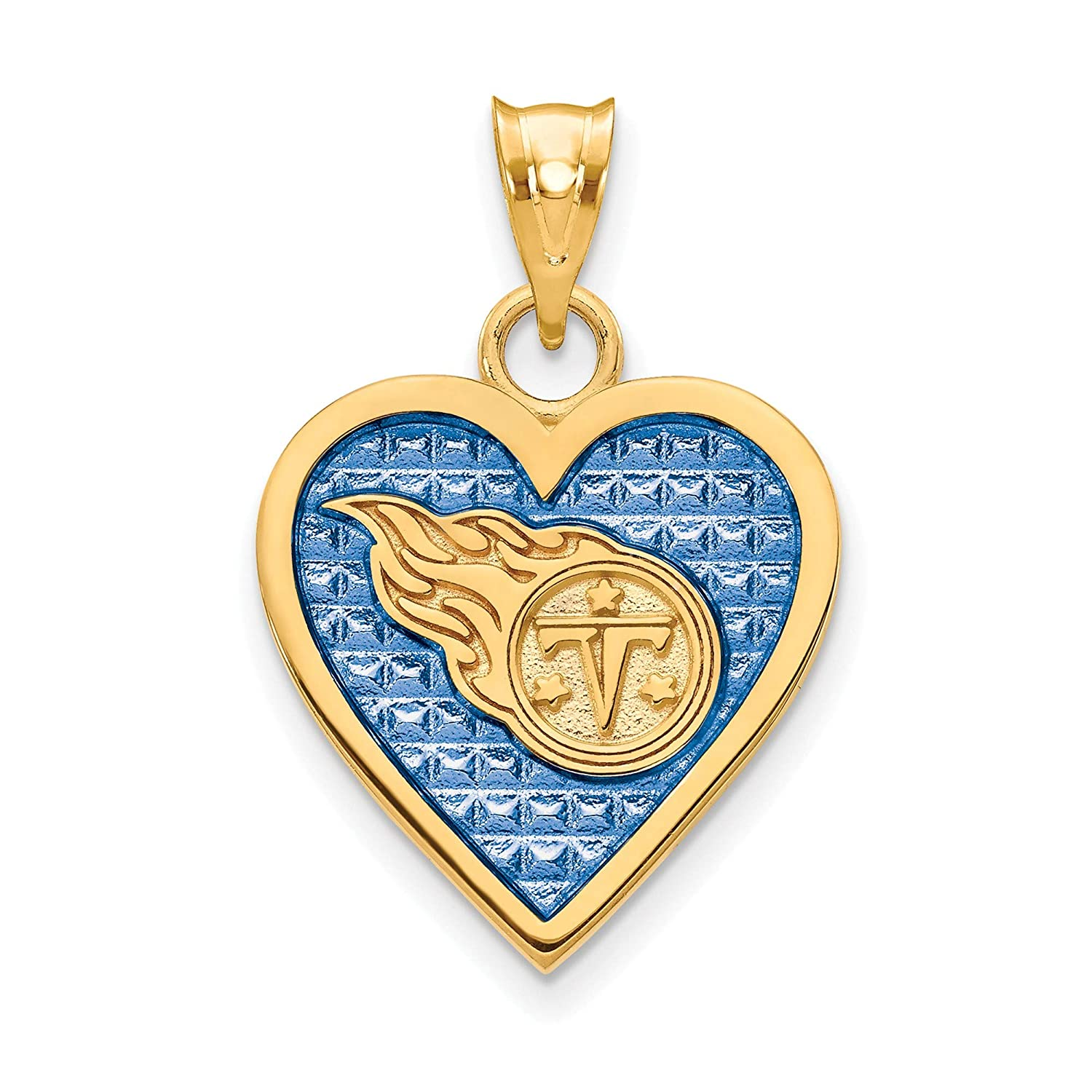 Kira Riley Gold Plated Tennessee Titans Enameled Heart Pendant