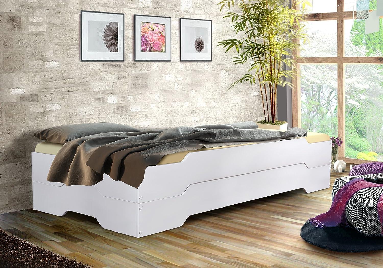 Pila de invitados o - MIA SOFT - 90 x 200 en blanco 2 x diseño incluye listones