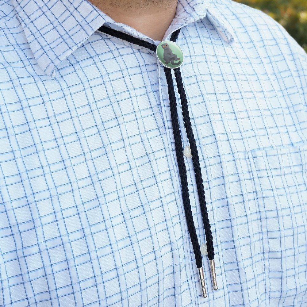 Scottish Fold Cat Western Southwest Cowboy Necktie Bow Bolo Tie