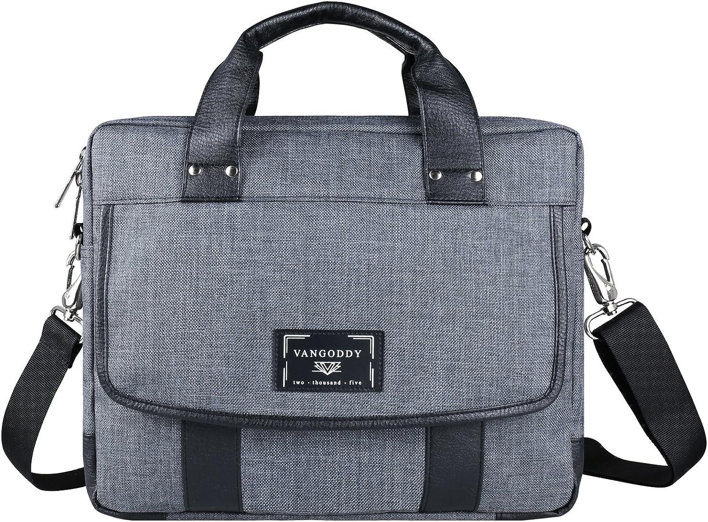 Laptop Messenger Bag 17 17.3 Inch Water Resistant Leather Canvas Laptop Shoulder Bag for Travel Work College, Fits for Acer Aspire 5, Aspire V17 Nitro, Predator Helios 300 500