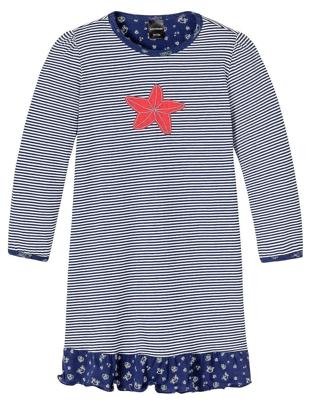 Schiesser Nachthemd 1/1, Camicia da notte da bambine e ragazze Schiesser - Nachthemd 1/1 blu(blau (dunkelblau 803)) taglia produttore: 092 146174