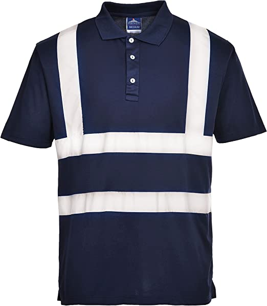 Portwest F477 - Camisa Polo Iona, color Armada, talla Small ...