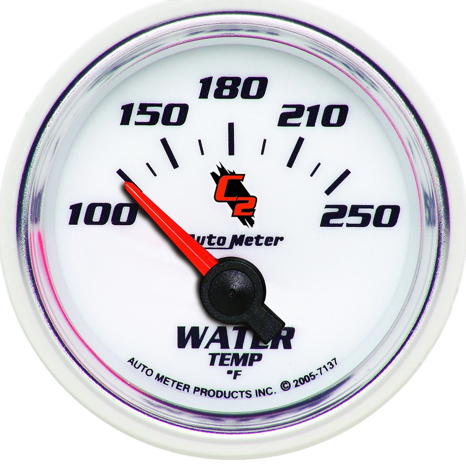 Auto Meter 7137 C2 2-1/16'' 100-250 F Short Sweep Electric Water Temperature Gauge by AUTO METER