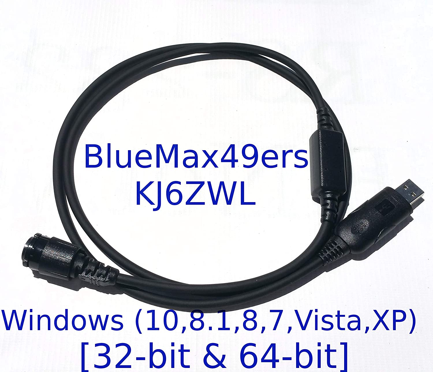 BlueMax49ers Programming Cable and CPS Installation Support for Motorola Radio Models DM4400 DM4600 DM4601 XPR4300 XPR4350 XPR4380 XPR4550 XPR4580 XPR5350 XPR5380 XPR5550 XPR5580 HKN6184C