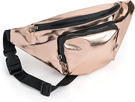 Silver leather fanny pack for woman leather belt bag fanny pack vintage hip pouch hip bag for woman sac banane small belt pouch waist bag