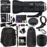 Tamron AFA022C700 SP 150-600mm Di VC USD G2 f/5.6-40.0 Telephoto Zoom for Canon A022, Polaroid Filter Kit, Ritz Gear Backpack, 64GB & Accessory Bundle