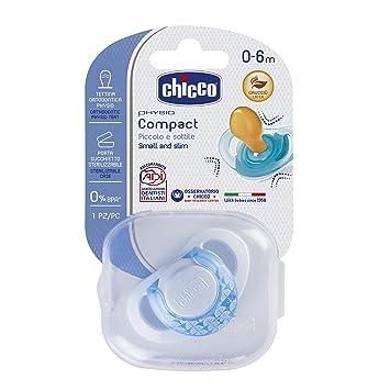 Chicco Physio Compact - Chupete de látex/caucho para 0-6 meses, color azul: Amazon.es: Bebé