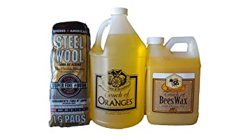 amazon com touch of oranges wood cleaner gallon and beeswax wood