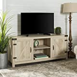 """Walker Edison Furniture Company Farmhouse Barn Wood Universal Stand for TV's up to 64"""" Flat Screen Living Room Storage…"""