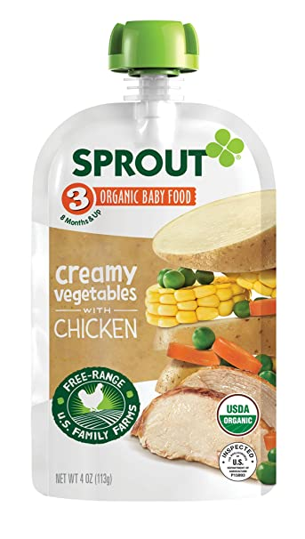 Sprout Organic Stage 3 Baby Food Pouches Meat Variety 4 Ounce