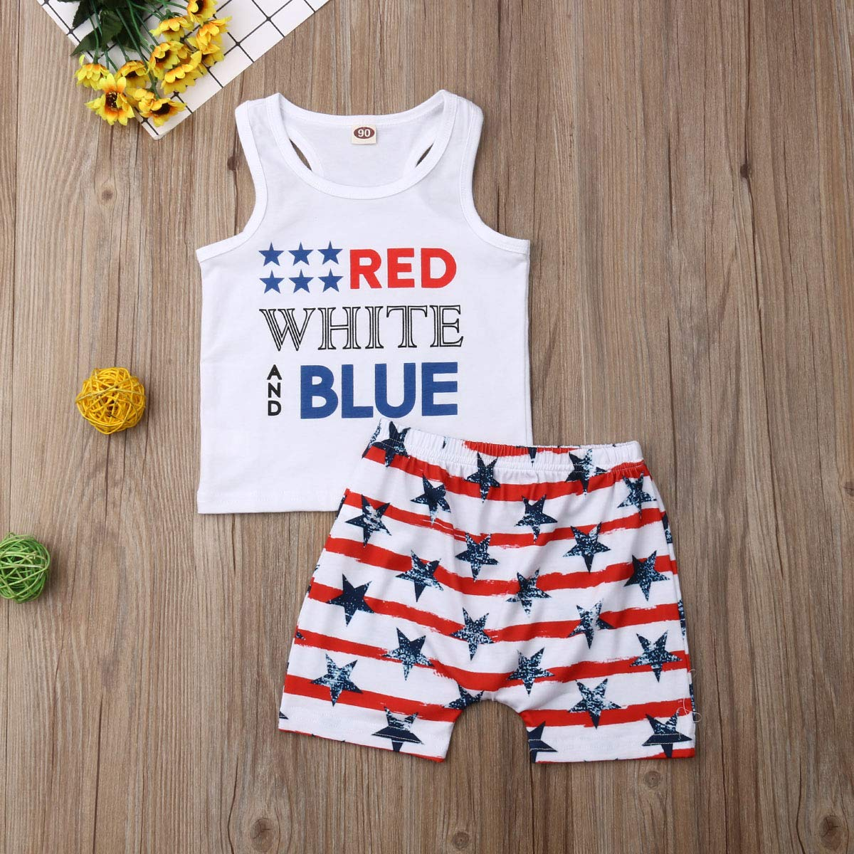 2Pcs//Set Fashion Toddler Kids Baby Girl Boy Summer Outfits Sleeveless Tassel T-Shirt Top+Floral Shorts Clothes Set 6M-5T