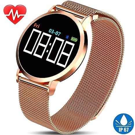 Amazon.com: Turnmeon - Reloj inteligente para hombre con ...