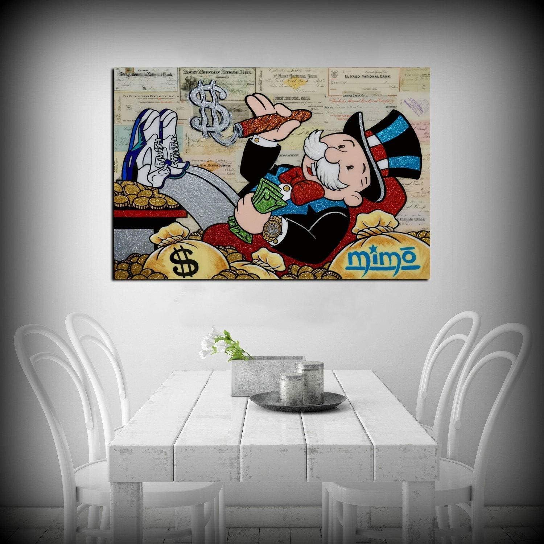 30x45cm 12x18inch gerahmt ALEC Monopoly The Rainmaker HD Leinwanddruck /Ölgem/älde Druck Wanddekoration Kunst auf Leinwand Home Decor