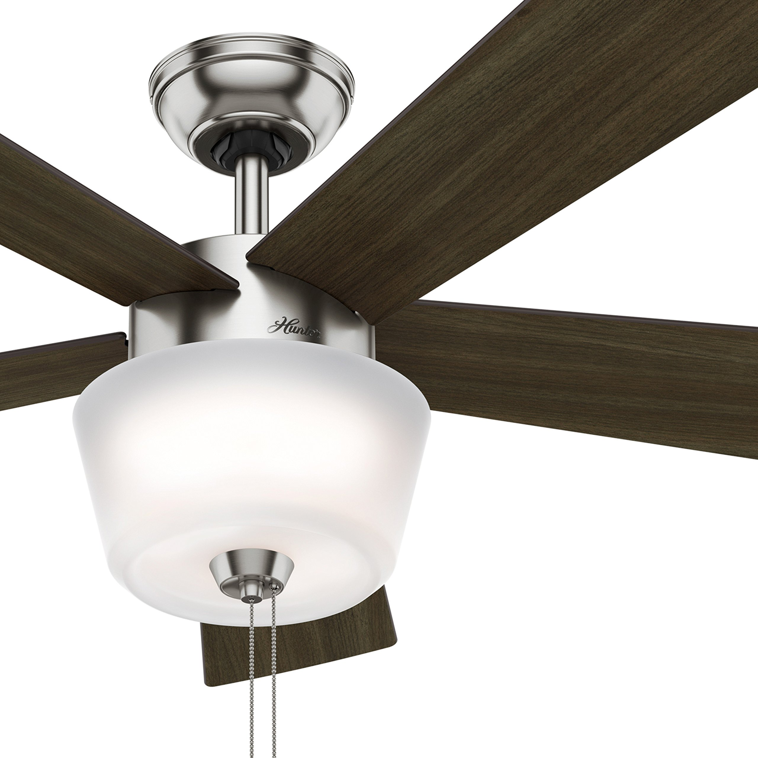 Hunter Fan 52'' Contemporary Ceiling Fan with Bowl Light Kit, Brushed Nickel (Certified Refurbished)