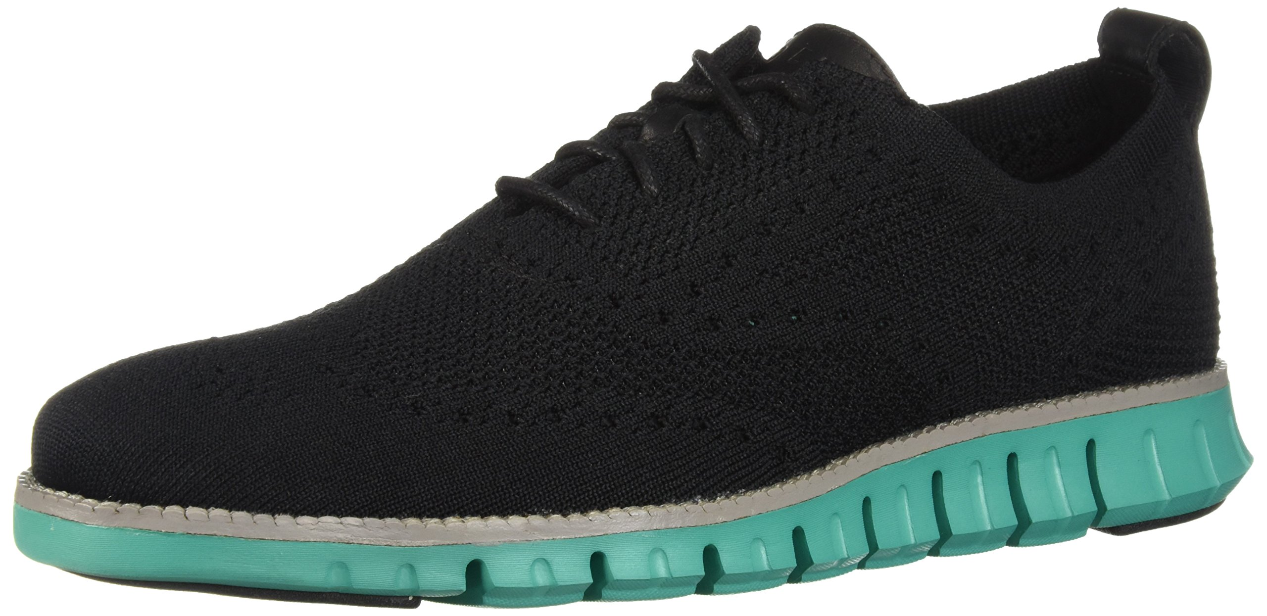 Cole Haan Men's Zerogrand Stitchlite Oxford, Black/Pool Green, 9.5 Medium US