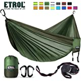 ETROL Upgraded 2 in 1 Large Camping Hammock or Only Mosquito Net, Pop-Up Lightweight Portable Hanging Hammocks with Tree…