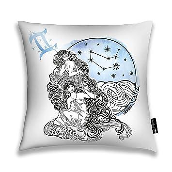 Amazon.com: Randell - Funda de almohada cuadrada con diseño ...