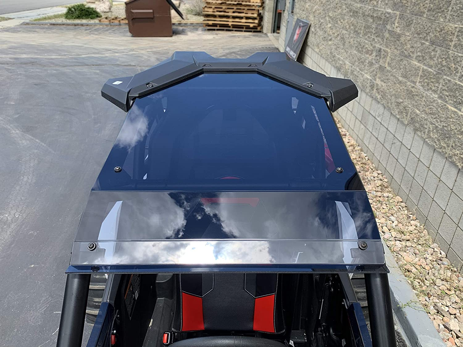 Polaris RS1 Tinted Polycarbonate Roof Tinted Top With BIllet Mounts