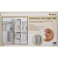 Delta Children 48 Piece Nursery Storage Set, Cool Grey