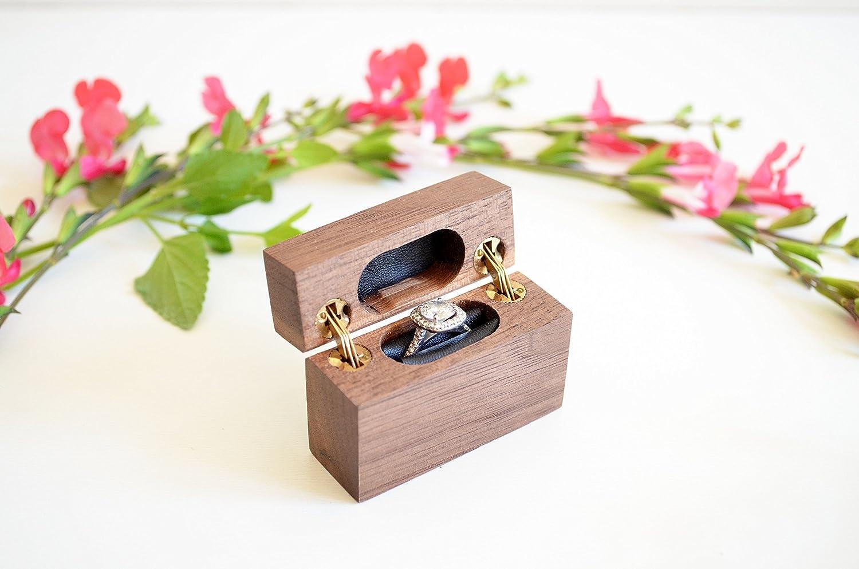 Slim Engagement Ring Box - Double-Hinged - Wanderweg Shop