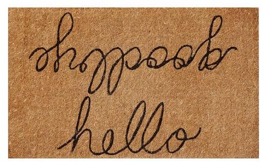 Hello/Goodbye Doormat | Pottery Barn
