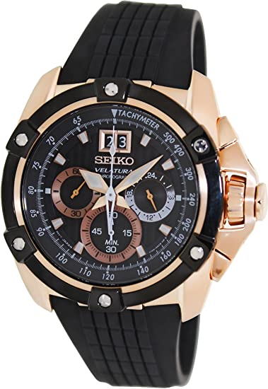 Seiko SPC074P1 - Reloj de pulsera para mujer, negro/negro