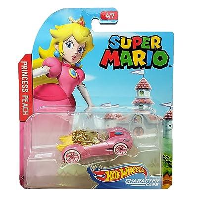 Hot Wheels Super Mario Character Cars Princess Peach Vehicle 4/7: Toys & Games