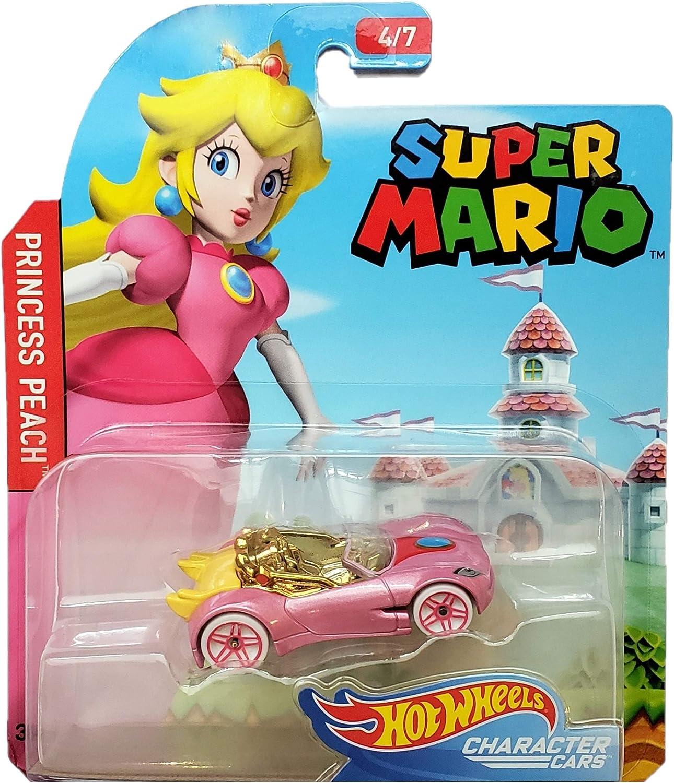Amazon Com Hot Wheels Super Mario Character Cars Princess Peach