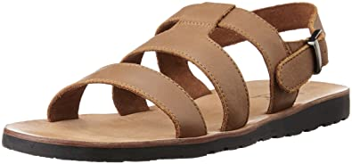 Louis Philippe Men's Leather Sandals and Floaters at amazon