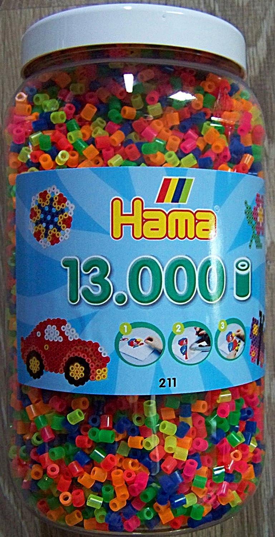 Hama Perles à repasser - 211-51 - 13000 pièces fluo